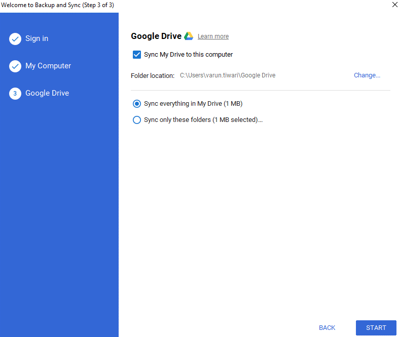 Backup Your Computer Data to Google Drive 8