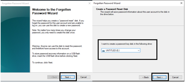 Create a Password Reset Disk-3