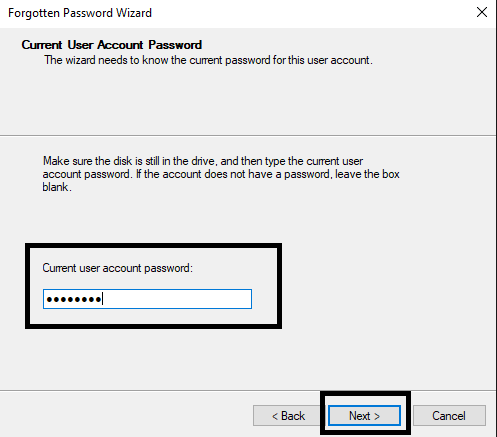 Create a Password Reset Disk-4