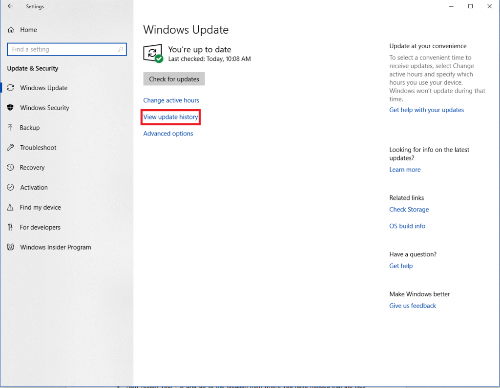 Go Back To Windows 10 Spring Creators Update-2