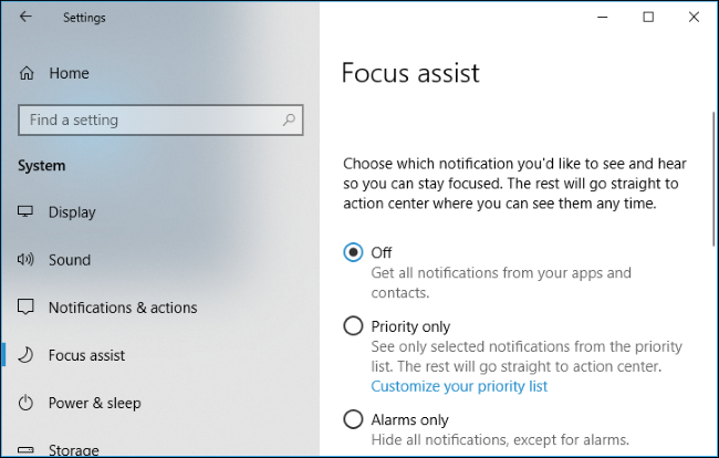 How to Enable the Focus Assist Feature on Windows 10-3