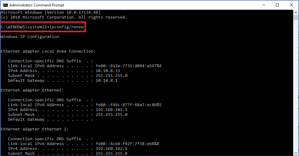 Release Allocated IPs