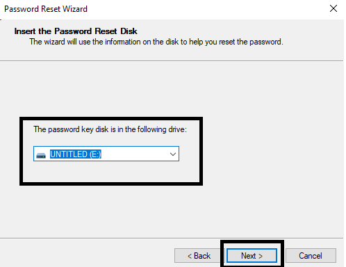 Use a Password Reset Disk-4