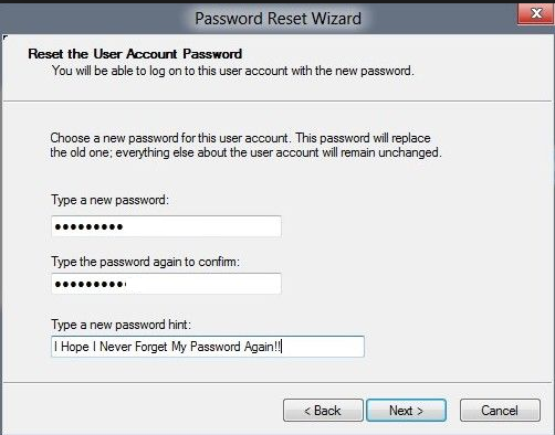 Use a Password Reset Disk-7