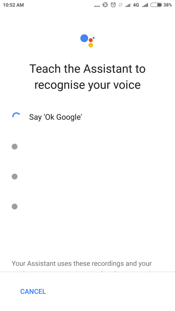 change voice on google app