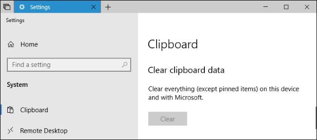 get rid of clipboard windows 10 history