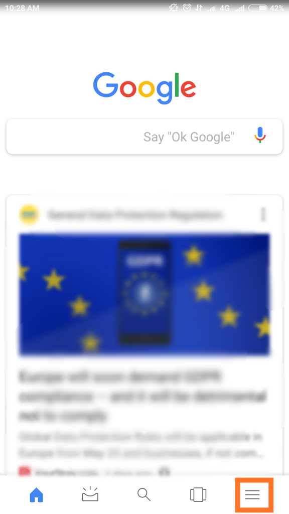 google settings down