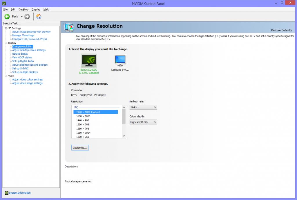 nvidia change resolution