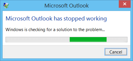 outlook has stopped working error fix