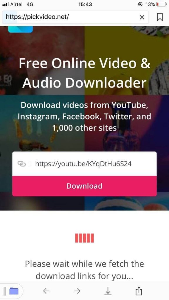 save the video from youtube to iPhone 1-2