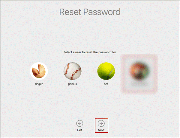 Reset Password Utility
