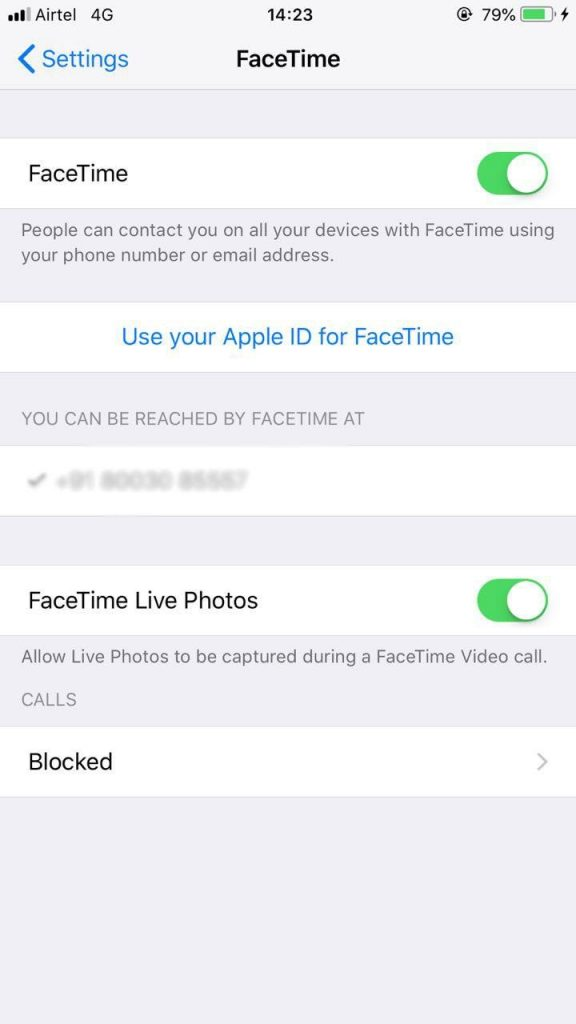 enable live images on facetime in ios 12