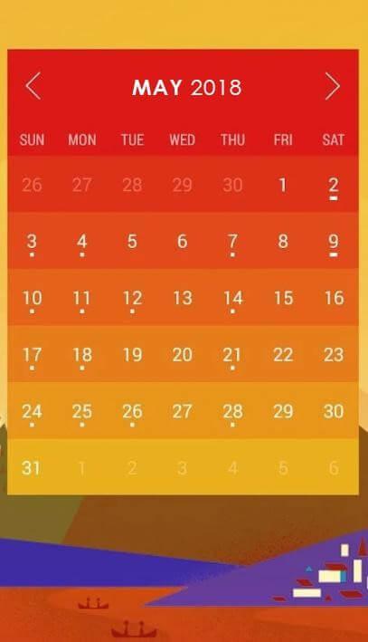 Calendar Widget-Month