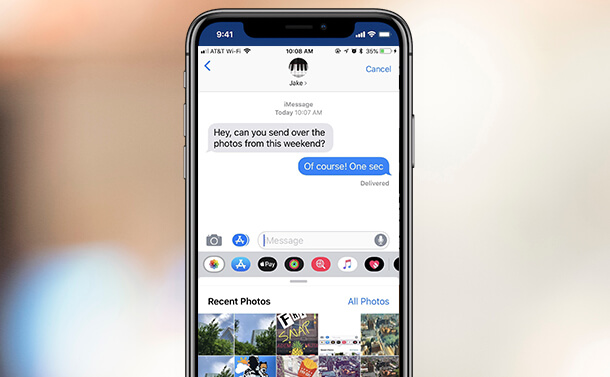 How To Access Photos In Messages On iOS 12?