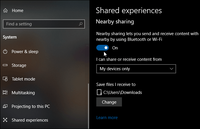 How To Turn On Nearby Sharing