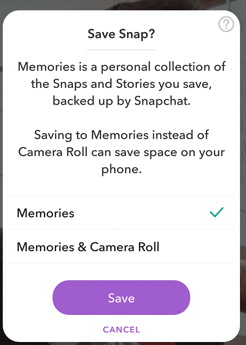 Save All Your Snaps Locally