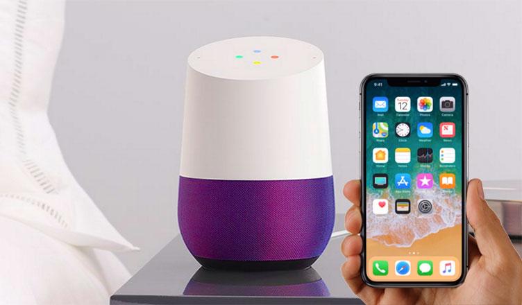 Setup a Google Home with an iPhone