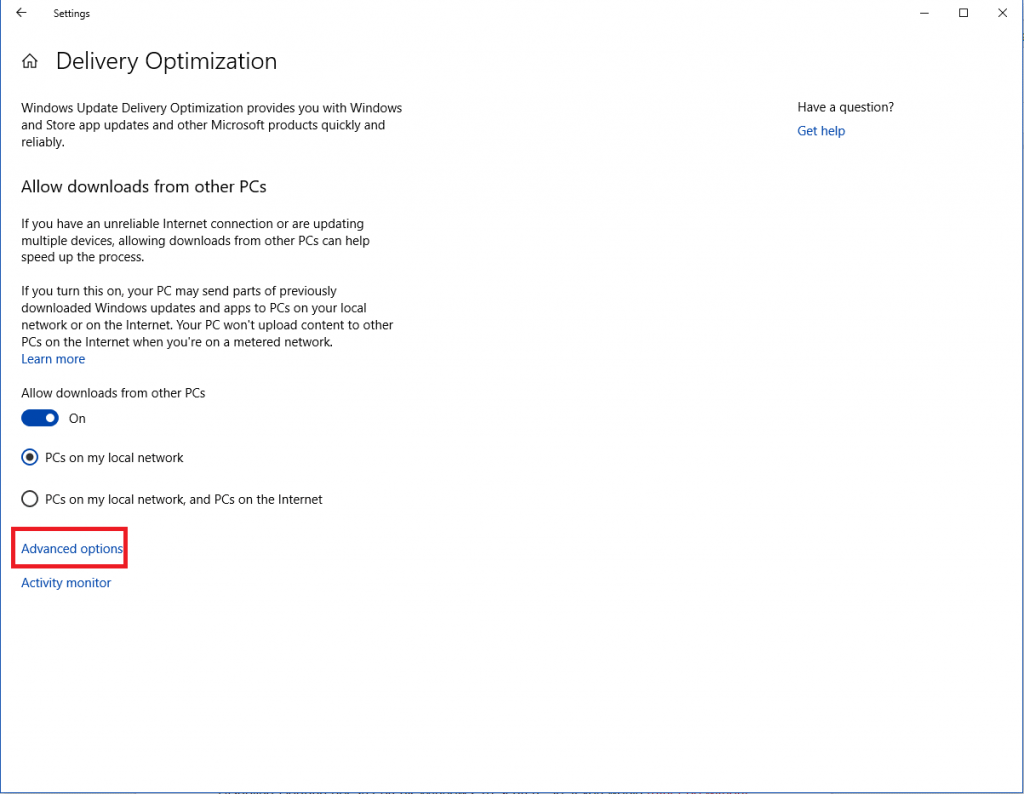 Turn Off Delivery Optimization-5