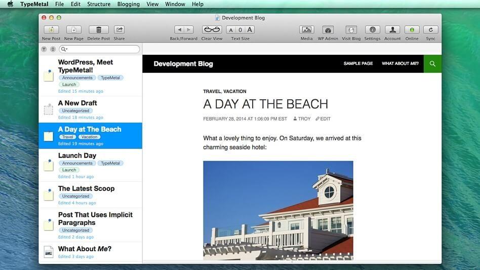 Type Metal Desktop Blogging Platforms