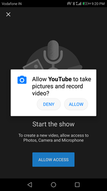 allow for record video