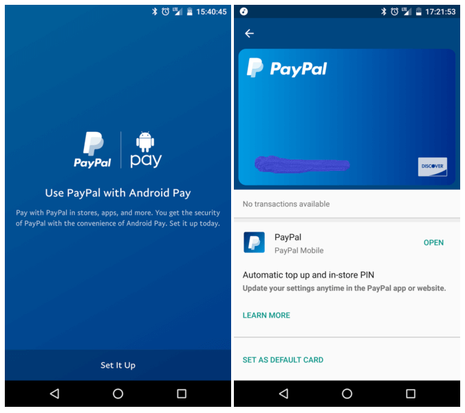 change PayPal settings for Google Pay