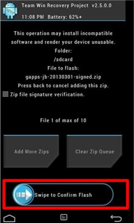 flash the file