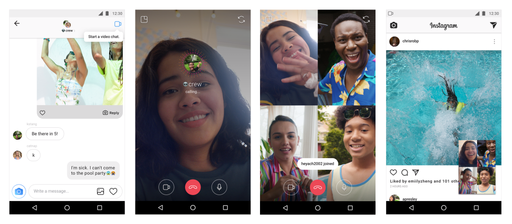 group video chat live on instagram
