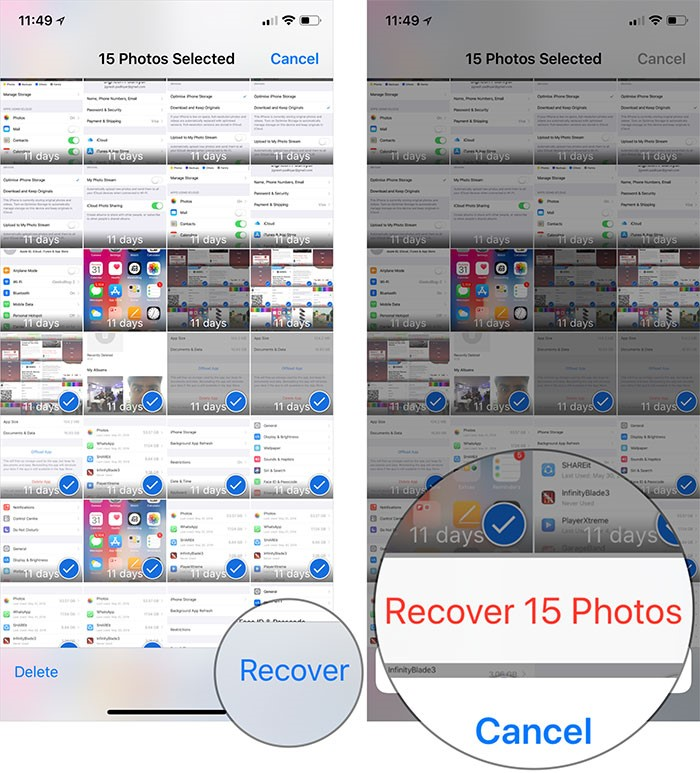 recover delete photos ios app