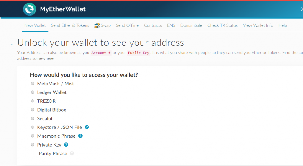 see ether wallet address