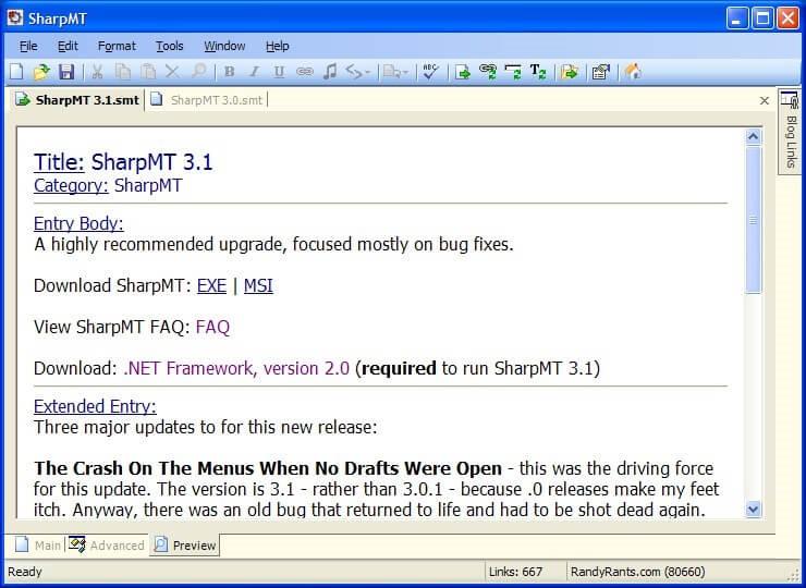 sharpmt Blog Writing Software