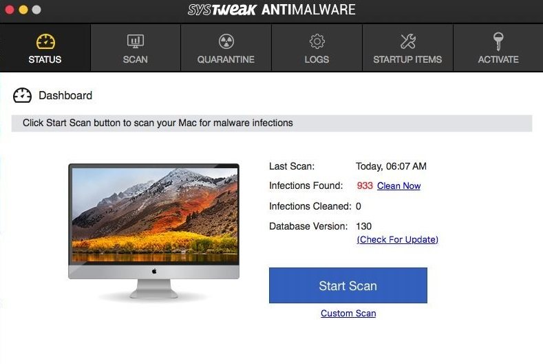 systweak antimalware help to check infected mac with viruses