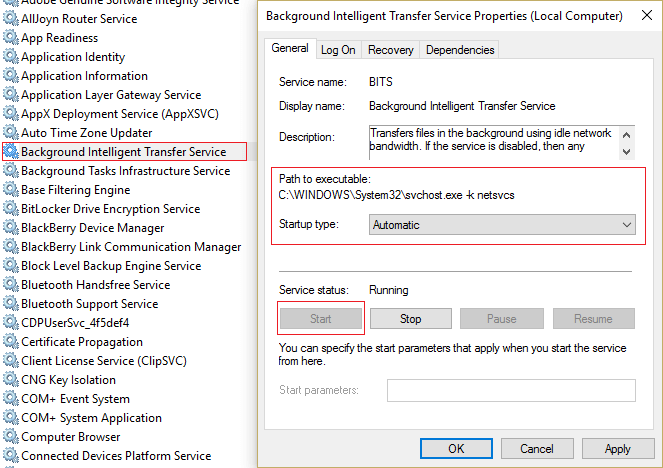 Check for Windows Update Services