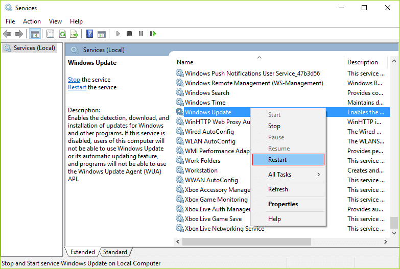 Check for Windows Update Services-4