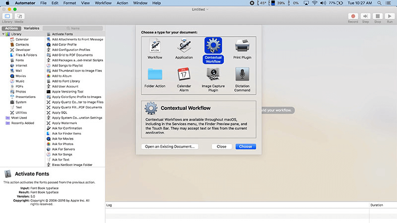 How to create custom Quick Actions in Mojave-3