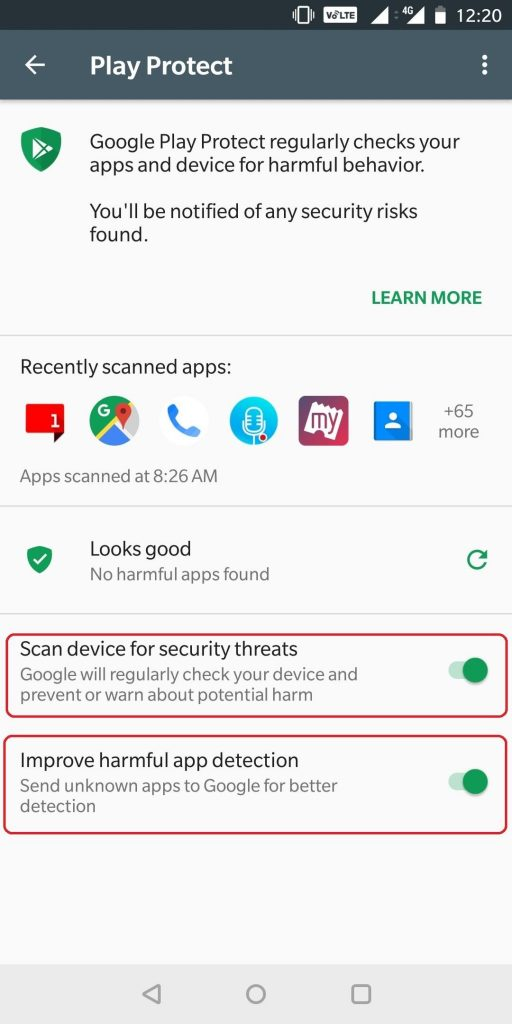 Scan device for security threats