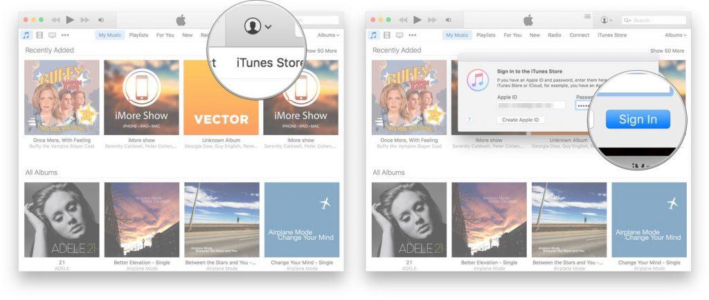 Set up an iTunes Account
