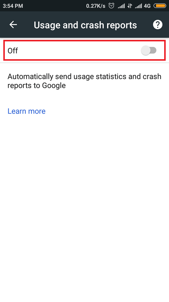 Turn Off Usage Reports-2