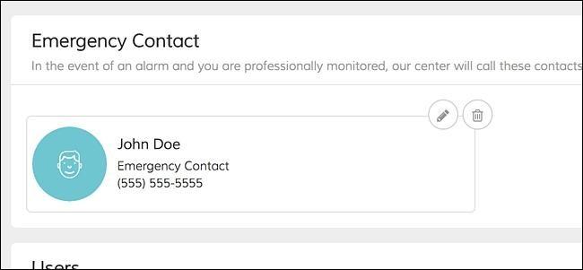 Update Emergency Contact info