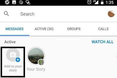 add messenger story
