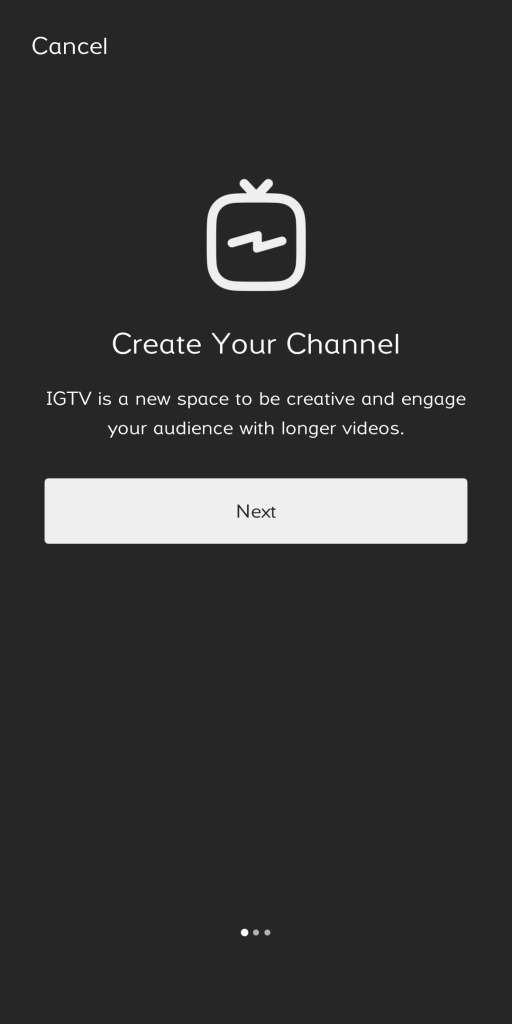 create your own IGTV channel