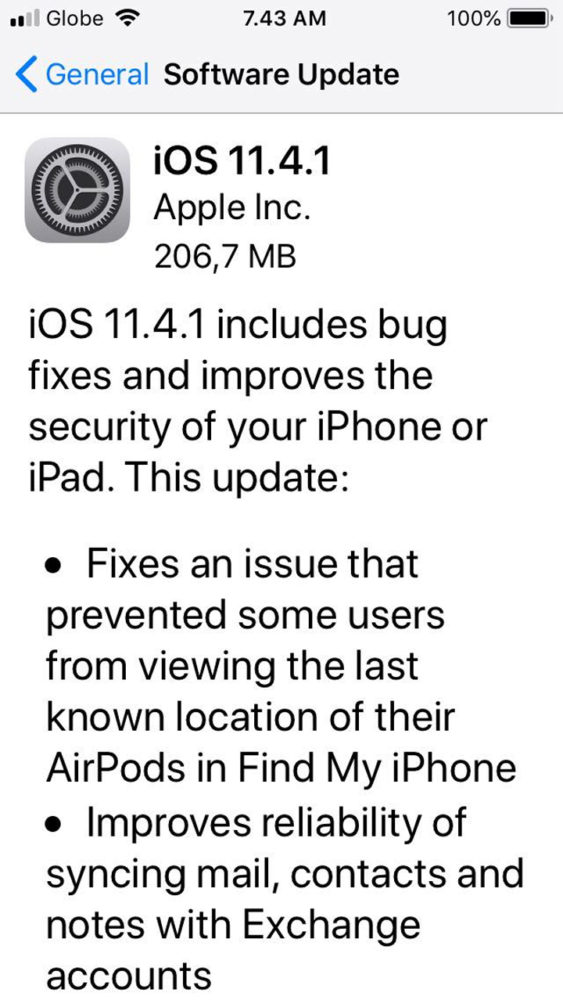 ios update available