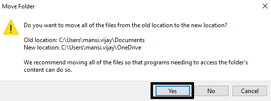 move files on one drive to sync on cloud
