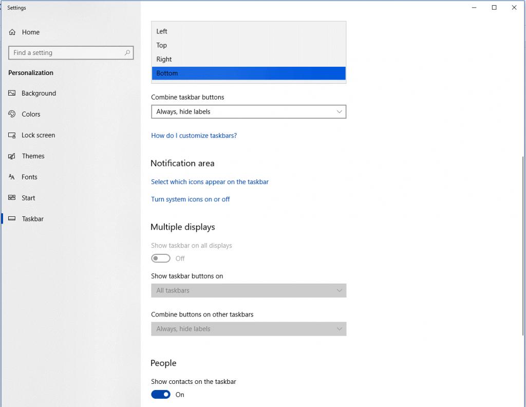 change the position of taskbar-2
