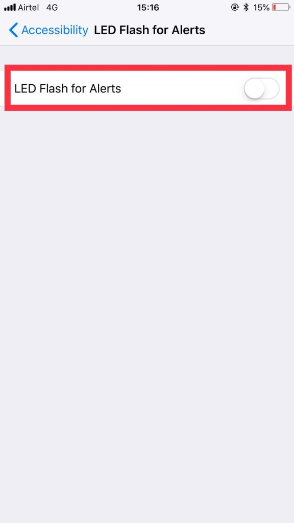 How To Enable LED Notification On iPhone - 4