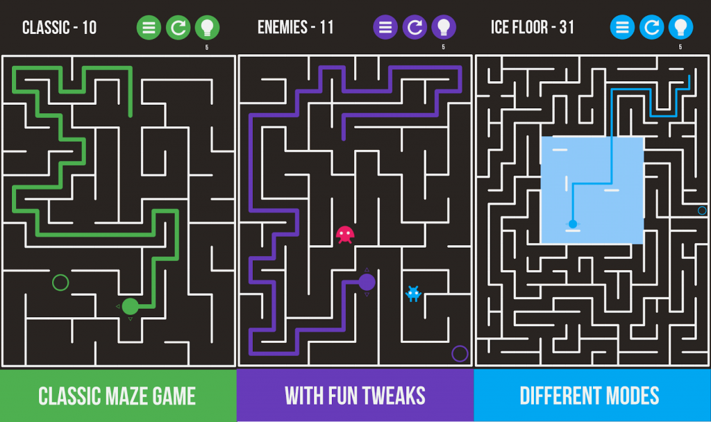 Mazes & More puzzle game