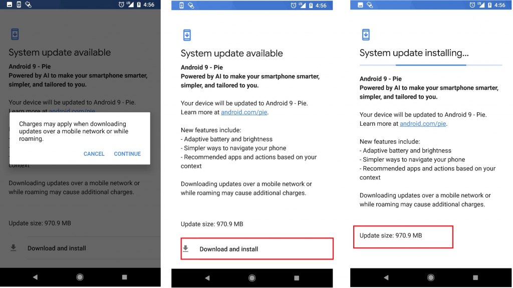 update android 9 beta on google pixel