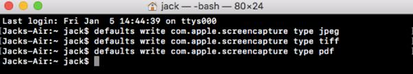 Change Screenshot File Format