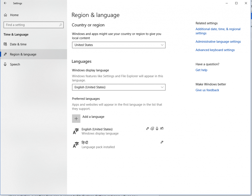 How To Change Default Language On Windows 10?