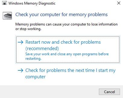 blue screen memory problem