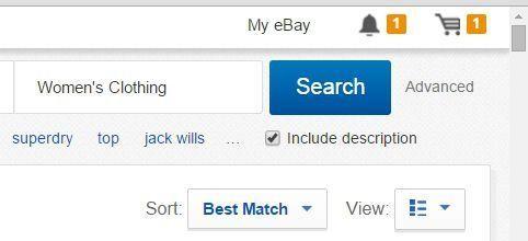 Search item Descriptions